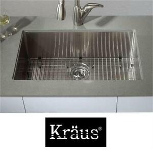 "NEW KRAUS 30"" SS UNDERMOUNT SINK STAINLESS STEEL - SINGLE BOWL - KITCHEN SINK - 16 GAUGE Home Improvement"