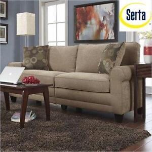 NEW SERTA 73'' VANITY SOFA   SOFA2GO COPENHAGEN HOME FURNITURE COUCH LIVING ROOM SECTIONAL SEATING  98212568