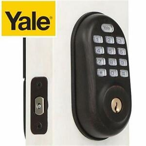 NEW YALE PUSH BUTTON DEADBOLT   REAL LIVING OIL RUBBED BRONZE DEADBOLT DIGITAL DOOR LOCK - HOME SECURITY  93679497