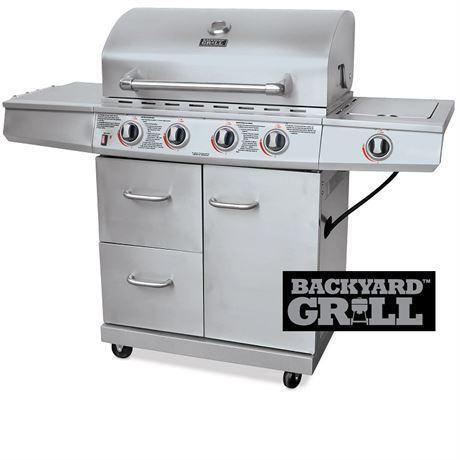 NEW* BACKYARD GRILL 4 BURNER BBQ Stainless Steel 4 Burner GAS Barbecue    60,000BTUu0027S OUTDOOR COOKING GRILLING | BBQs U0026 Outdoor Cooking | City Of  Toronto | ...
