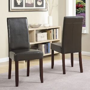 NEW: Simpli Home Acadian Parson Chair 2 Pack (2 Chairs for $160)