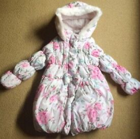 Girls age 3-4 years floral coat