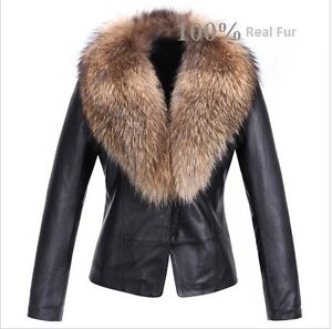 Womens-Real-Lamb-Leather-Soft-Jacket-with-Raccoon-Fur-Collar