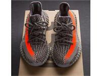 Yeezy boost 350 grey x orange
