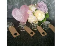 10 mini glass jam jars sweets shot sugar wedding afternoon tea