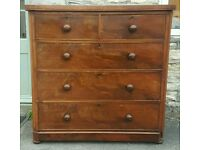 Large Victorian chest of drawers ( free local delivery )
