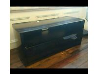 Black gloss TV cabinet