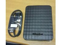 """2 x Maxtor USB 3.0 1TB 2.5"""" External Hard Drive"""
