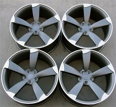 "(4)Set 20"" 20X9 5X112 ET35 RS Style Wheels Fit Audi A4 S4 A5 S5 Q5 Rotor"