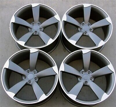 "(4)Set 20"" 20X9 5X112 ET25 RS Style Wheels Fit Audi A5 S5 Q5 A8 A6 Rotor"