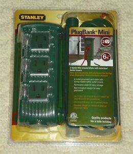 NEW STANLEY PLUGBANK MINI 3 OUTLET GROUND STAKE