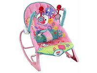 Fisher-Price Rainforest Infant Toddler Rocker (Pink)