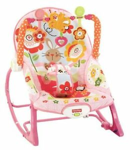 Chaise berçante Fisher Price (Lapin Rose)