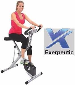 NEW* EXERPEUTIC UPRIGHT BIKE EXERCISE EQUIPMENT MAGNETIC FOLDING BICYCLE CYCLE CYCLING WORKOUT FITNESS   83402811