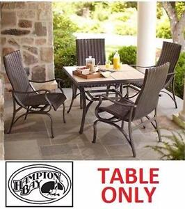 """NEW HAMPTON BAY PEMBREY PATIO DINING TABLE 40"""" 40""""x40""""x28"""" PATIO FURNITURE OUTDOOR LIVING HOME SEATING"""