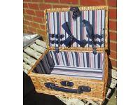 Picnic Hamper Storage Wicker Basket