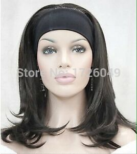 Ladies Black wig with attached stretchy headband Mulgrave Monash Area Preview