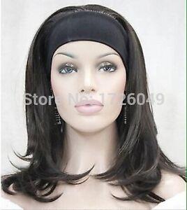 Ladies Black wig with stretchy headband Clayton Monash Area Preview