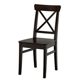 IKEA CHAIRS INGOLF BLACK