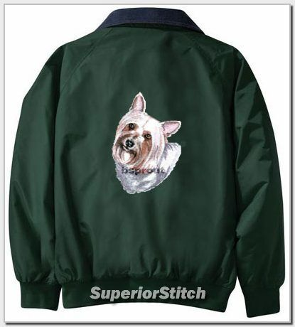 SILKY TERRIER embroidered Challenger jacket ANY COLOR B