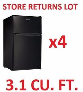4 AS IS GALANZ REFRIGERATORS 3.1 CU. FT. - BLACK HOME APPLIANCE BAR MINI FRIDGE 97484594