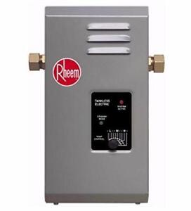 NEW OB RHEEM TANKLESS WATER HEATER   1.5 GPM HOME APPLIANCE IMPORVEMENT RENOVATION PLUMBING 93684384
