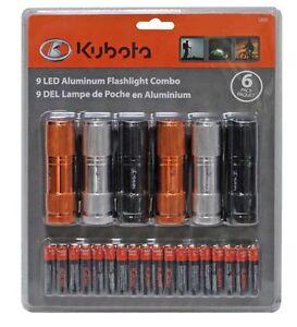 Kubota 9 LED flashlights. 6 pack. Brand new!