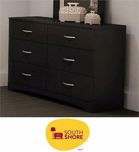 NEW SOUTH SHORE 6-DRAWER DRESSER BLACK   STEP ONE COLLECTION - BLACK - HOME - FURNITURE - STORAGE -  89805611