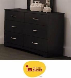NEW SOUTH SHORE 6-DRAWER DRESSER BLACK  STEP ONE COLLECTION - BLACK - HOME - FURNITURE - STORAGE - WARDROBE 97713493