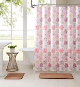 Brand new 15 pieces Shower curtain/Bath Set(2 Memory Foam Rugs