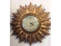 Smiths Art Deco sunburst wall clock