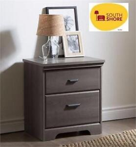 "NEW SOUTH SHORE VERSA 2-DRAWER NIGHT STAND   23.5""x16.5""x25.75"" - Furniture Bedroom Night Stands HOME DECOR 91859385"