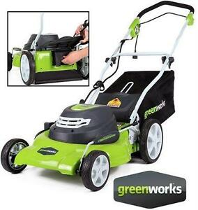 "NEW GREENWORKS 20"" ELECTRIC MOWER 12AMP CORDED LAWN MOWER OUTDOOR GRASS CUTTING WALK BEHIND MAINTENANCE POWER TOOLS"
