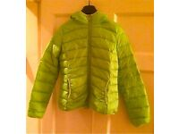 Down & Feather Jacket, Lime Green, L'Amie de Paris, size 12-14, brand new without tags!