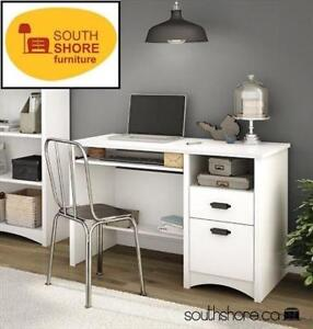 NEW* SOUTH SHORE COMPUTER DESK 7360070 214014995 GASCONY COLLECTION WHITE W/ KEYBOARD TRAY