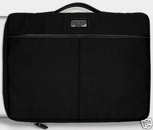 COACH Laptop Sleeve Case Bag -Style # F61841 MSRP $118 Varick Nylon BLACK