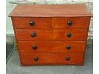 Victorian chest of drawers (free local delivery)