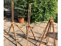 Three Old Wooden Art Easels