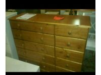 A brand new pine 13 drawer chest.