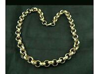 9ct Hold belcher chain hallmarked