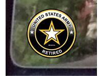 "ProSticker 1114.6 4/"" United States Army Veteran Star MASH Decal Sticker One"