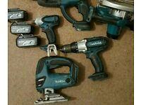 Makita lxt 18v drill, impact, sds, jigsaw, saw