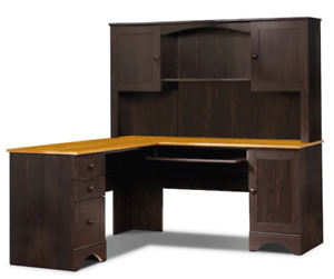 Office Desk with Removable Hutch
