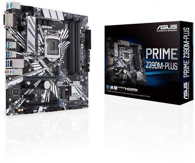 Motherboard Plus Cpu (Asus PRIME Z390M-PLUS Motherboard CPU i3 i5 i7 LGA1151 Intel DDR4 HDMI DVI M.2)