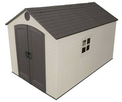 New Lifetime Storage Shed 6402 8x12.5 Plastic Garden Tool Yard Outdoor Building