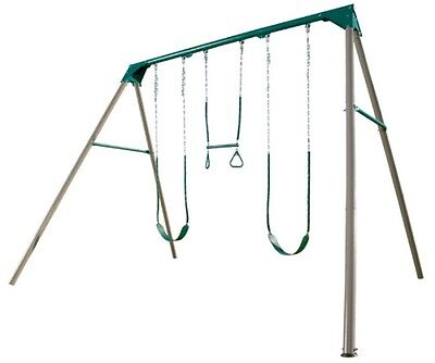 Lifetime 290038 Heavy-Duty A-Frame Metal Swing Set with 3 Stations