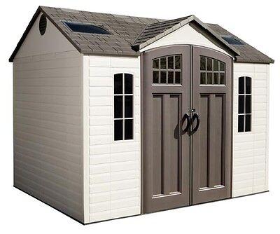New Lifetime 60095 10 x 8' Plastic Storage Garden Shed Kit Building + Floor