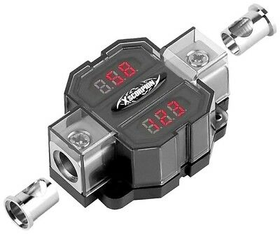 Digital Voltage Amperage Audio Digital Meter 1/0 2 4 gauges in and out Platinum