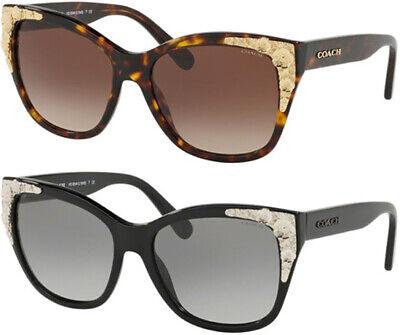 Coach Women's Square Sunglasses w/ Metallic Adornment - (Coach Shades)