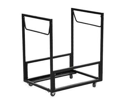 Lifetime Chair Carts - 80279 Standing Folding Chair Rack Rolling Gray Portable